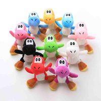 10 cm Luigi Bros Yoshi Dinosaurier Plüschspielzeug Anhänger mit Schlüsselanhänger Gefüllte Puppen für Geschenke 4 Zoll Neueste DHL Versand FY7330