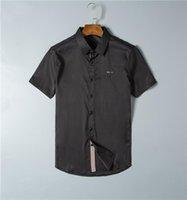 2021 Mens Dress Shirts Luxurys Designer Casual Fit Long Sleeve Business Male Dot Print Autumn Formal Cotton Men Brand #13