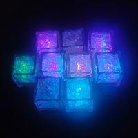 RGB Flash LED cubo luces cubitos de hielo lámparas Flash Liquid Sensor Agua Sumergible LED Barra de la barra de LED para la torre del champán de la fiesta de boda del club