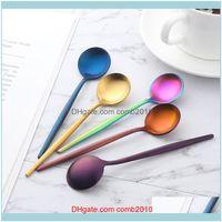 Flatware Kitchen, Dining Bar Home & Garden8Pcs Lot 18 0 Stainless Steel Gold Set Teaspoons Tablespoon Cutlery Tableware Mini Tea Coffee Spoo