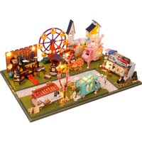 Cutebee diy دمية منزل خشبي دمية المنازل مصغرة دمية الأثاث كيت اللعب كاسا للأطفال هدية عيد Y0329
