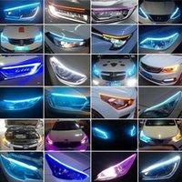 비상 조명 자동 DRL 스트립 유연한 주간 실행 LED 회전 신호 노란색 헤드 라이트 자동차 스타일 밝은 램프 액세서리 방수 12