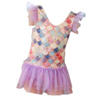 Children's Bathing Suit Summer Lace Princess Swimsuit For 2-4 Year Old Baby Girls Mermaid One-piece Swimsuit Tankinis Beach Causal G61MQIL