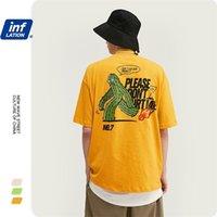 Инфляция Летние смешные футболки HIP-хоп Мужская футболка уличная одежда мужская футболка негабаритных мужчин TEE 1037S20 210323