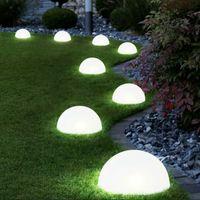 Solar Light Ground Garden Lawn Lamp 5 LEDs Powered Half Ball Shaped Lights Waterproof Pathway Landscape
