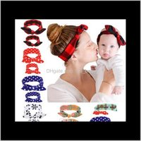 Aessories & Tools Products Item Sweet Cute Elastic Bowknot Plaid Polka Dots Flowers Baby + Mom Parent-Child Headbands Headwear Hair Hoops Ha