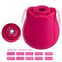 50 pz 5 stile 10 velocità donne massaggiatore corpo massaggiatore rosa fiore clitoride sucker dildo vibratore giocattoli del sesso lingua orale capezzolo stimolatore del capezzolo Pompini