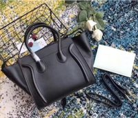 Klassische Luxus-Damen Trapez Casual Tote Echte Rindsleder-Tasche Designer-Schulter-Bat-Handtasche mit Handgelenkgeldbeutel Boston