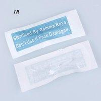 Dicas de mosaico para agulhas de maquiagem permanente - branco preto e transparente caps 100 pcs / lote livre 1