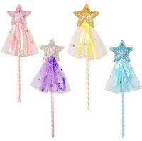 Peri Glitter Sihirli Değnek Sequins ile Püskül Parti Favor Çocuk Kız Prenses Giydir-Up Kostüm Asası Rol Oynamak Doğum Günü Tatil Hediye Çantası Dolgu