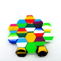 26ML Colorful Silicone Container Hexagon Silicon Jars Wax Dab Dry Herb Holders Food Grade Storage Free Freight