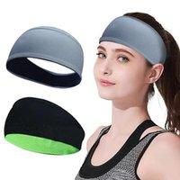 2 stücke einfarbig falten yoga stirnband nonslip elastische streckhaarband turban laufe headwrap breite sportaccessoires * p gegen Widerstandsbänder