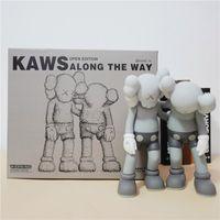 Novas chegadas 28cm 1.4kg originalFake Kaws Companion o ao longo do estilo de estilo para o original kaws caixa ação figura modelo decorações brinquedos presente