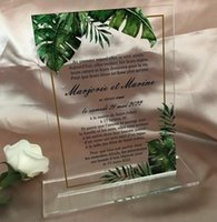 Other Event & Party Supplies Menu Cards,Acrylic Wedding With A Base,10pcs Custom Acrylic Dinner Menu,Acrylic Invitations,Party Table Decorat