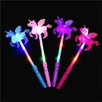 Party Decoration Unicorn Flash LED Light Up Wand Glow Sticks Kids Toys For Holiday Concert Christmas Party XMAS Gift Birthday 1 68cx UU 4PON