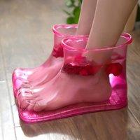Vasche da bagno sedili da bagno da donna immergiti da bagno bagno terapia scarpe da massaggio rilassante stivaletti di rilassamento stivaletto Acupoint Sole portatile home carer lb112810