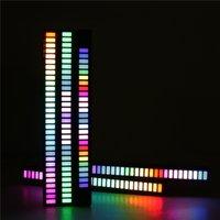 Car LED Strip Music Sound Control Rhythm Light Bar RGB Atmosphere Lights Tube USB Energy-Saving Ambient Lamp