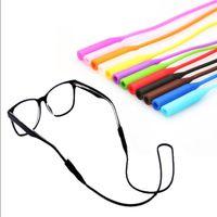 1pcs 조정 가능한 탄성 실리콘 안경 끈 선글라스 체인 스포츠 안티 슬립 문자열 안경 밧줄 밴드 코드 홀더