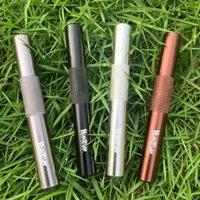 Mini metallo sigaretta per fumo tubo tabacco erba alluminio one battitore di dugout tubi da snuff snuff petrolare accessori