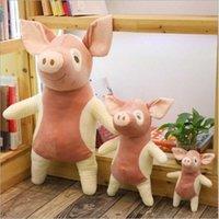 Simulação Chelis Pig Boneca Brinquedo De Pelúcia Bonito Edredão Duveta Rosa-Porco-Boneca Dia Das Crianças Presente De Presente Almofada de Carros Mobiliário de Mobiliário de Casa Cura