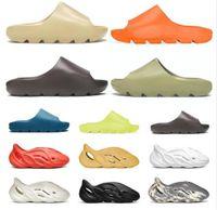 Slides Graffiti Bone Resin Desert Sand Luxury Designer Slippers Summer Fashion Earth Brown Flat Slide Men Women Beach Causal Sandals Runner 36-46