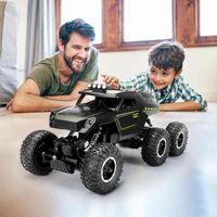 Pickwoo C12 Tamaño grande 39cm 1:12 RC Coche 6WD 2.4GHz Control remoto Crawler con luz fuera de la carretera Vehículos Camión de alta velocidad Juguetes para niños 210322