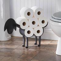 Suporte de papel higiênico decorativo de ovelhas - porta de ferro de armazenamento de tecido de banheiro livre