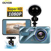 Car DVR Video Recorder Dash Camera 1080P Rear View Dual Lens 3.6 Full HD G Sensor Portable Cycle Recording Cam Dashcam DVRs