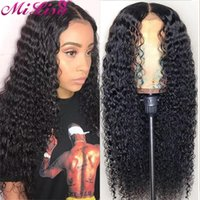 Lace Wigs 30 Inch Deep Wave Frontal For Women Curly Human Hair Wig MI LISA Brazilian Remy Pre Plucked 13x4 Front