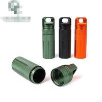 XXL Aluminiumlegierung Pille Box Fall Flaschenhalter Behälter Wasserdichte Lagerung Luftdichte Zylinderstash 3 Farbe Wählen Sie Größe 30 * 100mm