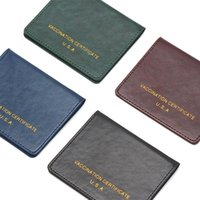 Card Holders Notes Cover Vaccinate Certificate Multifunctional Leather Protective Passport Holder Pocket Notebook S Case USA