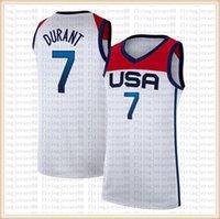 """2021 كيفن 7 دورانت ديفين 15 بوكر جيرسي داميان 6 ليلارد جايسون 10 تاتوم كرة السلة الفانيلة فريق الولايات المتحدة الأمريكية """"طوكيو أولمبياد الصيف أبيض أزرق S-XXL"""