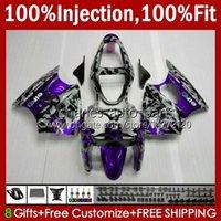 Inyección Púrpura Camuflaje Molde cuerpo para Kawasaki Ninja ZZR600 600CC 2005 2006 2007 2008 Carrocería 38HC.97 100% FIT ZZR-600 600 CC 05-08 ZZR 600 05 06 07 08 Kit de carenado OEM