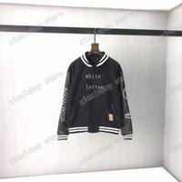 21ss Adam Tasarımcılar Bombacı Ceketler Çift Mektup Havlu Nakış Giysileri Erkek Mons Giyim Kapşonlu Erkekler Giyim Pamuk Siyah Beyaz Xinxin
