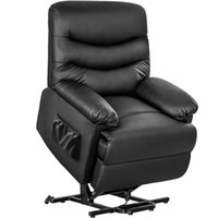 Bedroom Furniture Orisfur. Power Recliner and Lift Chair in Black PU leather, Heavy Duty Steel Reclining Mechanism