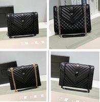 Fahion Bolsas Mulheres Luxurys Designers Genuíno Saco De Couro Com Letras Mulheres Correntes Messenger Bags Atacado Bolsa de Ombro
