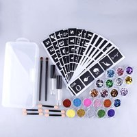 Nail Art Kits 98pcs Tattoo Kit Waterproof Semi-permanent For Body Face Makeup Stickers Stencil Decals Set