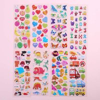 2021 fun toys10 sheets Cute Kids 3D Puffy Stickers Animals Cars Cartoon Ocean Fish Boys Gift School Teacher Reward Scrapbooking Toy Newfor children