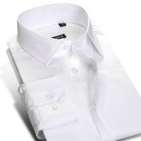 2021mens Standard-Fit Robe à manches longues à manches longues Bouton Fermeture Coton Classic Formel Business Shirts de base