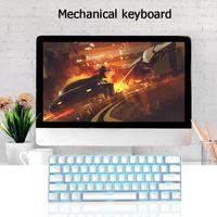 Wireless Bluetooth Mechanical Gaming Keyboard 61 Keys RGB Single Backlight Green Shaft Gamming
