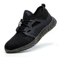 2020 Jackshibo Hommes Travaux de course Chaussures de course Été Respirant Sports Chaussures Steel Toe Anti-Fracture Construction Sneakers Taille 40-45