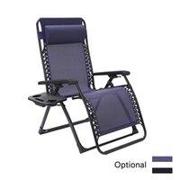 큰 크기 야외 벤치 파티오 접는 제로 중력 라운지 캠프 캠프와 풀 사이드 뒷마당 잔디 해변 블루에 대 한 컵 홀더와 함께 라운지 캠프 reclining 의자