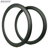 Rodas de bicicleta BikeDoc 700c * 25mm Carbon Road RIMS 50mm completo aro sem tuberculose