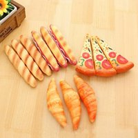 Stylos à bille 1 pièce lytwtw mignon kawaii pizza chien pain coréen papeterie créative stylo de qualité