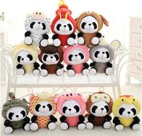 Sevimli Panda Peluş Dolması Hayvanlar Bebek 20 cm 12 Models Çocuk Doğum Günü Yaratıcı Hediyeler Çocuk Oyuncakları