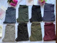 7/8 Comprimento Alta Cintura Mulheres Yoga Calças Rápidas Dry Sports Gym Calças Senhoras Calças Exercício Fitness Wear Running Leggings Calças Atléticas