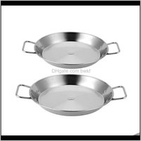 Pans Kitchen, Dining Bar Home & Gardenstainless Steel Non-Stick Paella Spanish Seafood Frying Pot Wok Cheese Cooker Cooking Pan Kitchen Cookw