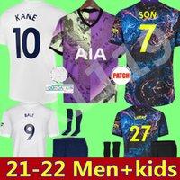 21 22 Balya Kane Futbol Formaları Dele Son Ndombele Spurs Hojbjerg Bergwijn Lo Celso 2021 2022 Ev Uzaktan 3rd Futbol Gömlek Üniformaları Yetişkin Erkekler + Kids Kiti