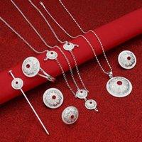 Earrings & Necklace Eritrean Wedding Traditional Jewelry Six Pcs Choker Sets Stone Ethiopian Women