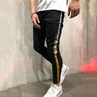Mens Ripped Denim Jeans Man Skinny Slim Fit Penna Byxor Casual Hip Hop Byxor med hål KG-288